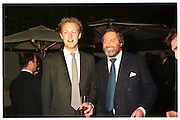 LORD EDWARD SPENCER-CHURCHILL; THE MARQUESS OF BLANDFORD, Tatler Spring party, Mirabelle. London. 29 April 1998.