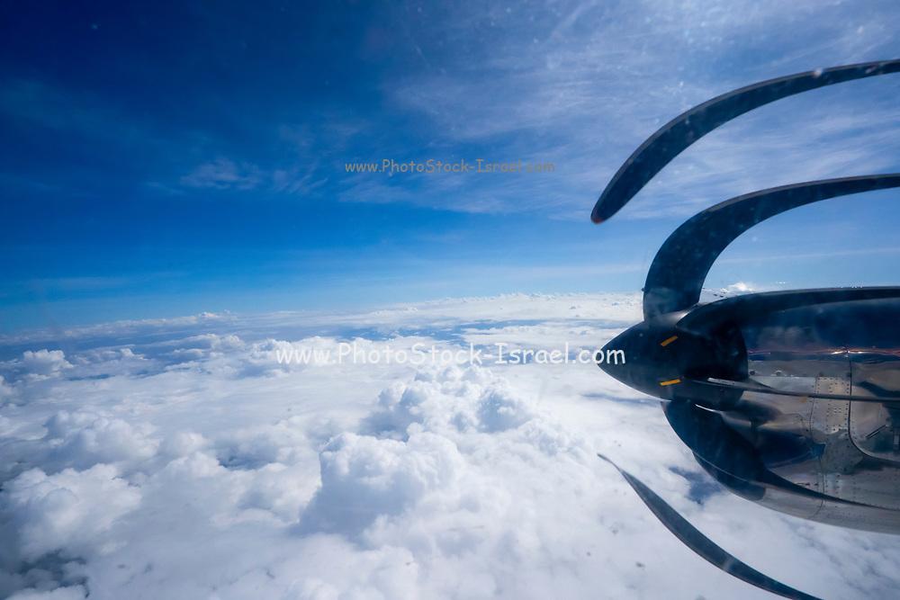 A plane takesoff from Serengeti National Park, Tanzania