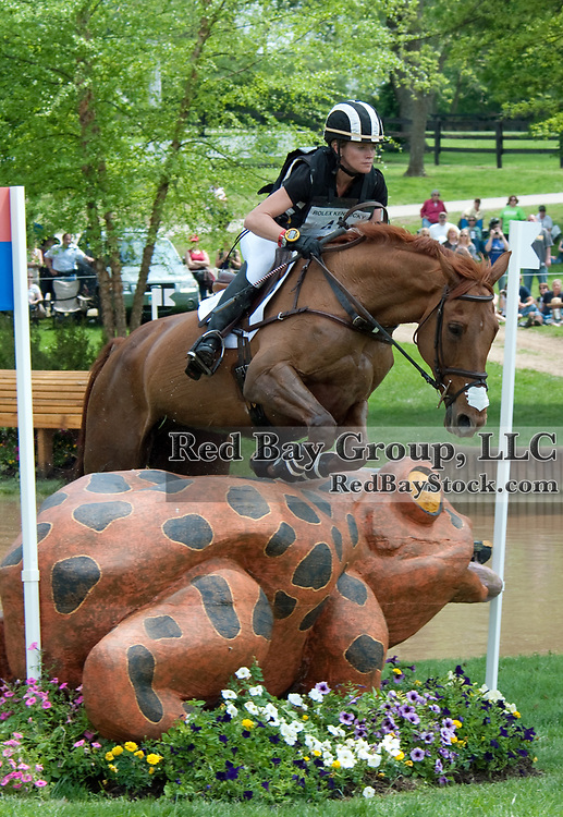 Sinead Halpin and Manior de Carneville at the 2011 Rolex Kentucky Three-Day Event in Lexington, KY.