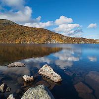 Mountain lake in Autumn, Vestvågøya, Lofoten Islands, Norway