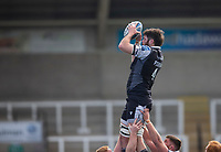 Rugby Union - 2020 / 2021 Gallagher Premiership - Round 13 - Newcastle Falcons vs Bath - Kingston Park<br /> <br /> Greg Peterson of Newcastle Falcons wins a line out<br /> <br /> Credit : COLORSPORT/BRUCE WHITE