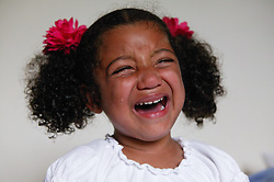 Portrait of young girl crying,