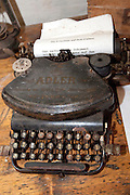 Old dilapidated Adler Number 7 typewriter found in Hitler's WWII bunker. Konewka Central Poland