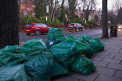 Commercial Rubbish waiting to be collected on Ecclesall Raod, Sheffield