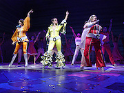 Fifth Anniversary performance of Mama Mia at the Prince Edward theatre and afterwards a party at Equinox, Leicester Sq. 6 April 2004. ONE TIME USE ONLY - DO NOT ARCHIVE  © Copyright Photograph by Dafydd Jones 66 Stockwell Park Rd. London SW9 0DA Tel 020 7733 0108 www.dafjones.com