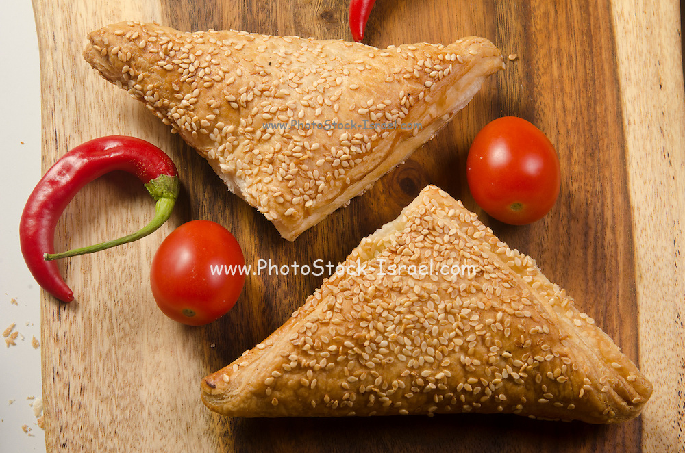Borek (Also Burek) a Turkish pastry filled with cheese or potato or mushroom