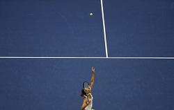 NEW YORK, Sept. 7, 2017  Karolina Pliskova of Czech Republic serves to CoCo Vandeweghe of the United States during the women's singles quarterfinal match at the 2017 U.S. Open in New York, the United States, Sept. 6, 2017. Karolina Pliskova lost 0-2. (Credit Image: © Qin Lang/Xinhua via ZUMA Wire)