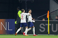 England midfielder Jesse Lingard celebrates his goal 0-1 with England defender Kieran Trippier during the Friendly match between Netherlands and England at the Amsterdam Arena, Amsterdam, Netherlands on 23 March 2018. Picture by Phil Duncan.
