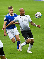 Football - 2020 / 2021 Sky Bet Championship - Swansea City vs Cardiff City - Liberty Stadium<br /> <br /> André Ayew Swansea City on the attackin the South Wales local derby match<br /> <br /> COLORSPORT/WINSTON BYNORTH