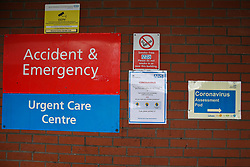 © Licensed to London News Pictures. 03/03/2020. London, UK. A Coronavirus Assessment Pod next to Accident and Emergency at North Middlesex University Hospital in Edmonton. Thirty nine people have tested positive of Coronavirus. Today Prime Minister Boris Johnson has set out the Government's plan to tackle Coronavirus (Covid-19) in the UK. Photo credit: Dinendra Haria/LNP