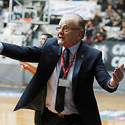 Anadolu Efes's Coach Dusan Ivkovic during their Turkish basketball league match Besiktas integral Forex between Anadolu Efes at BJK Akatlar Arena in Istanbul, Turkey, Monday, January 05, 2015. Photo by TURKPIX