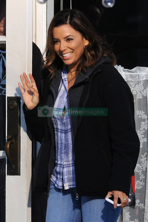 EXCLUSIVE: Eva Longoria loses a button on her shirt during filming in Vancouver, Canada. Longoria recently joined the cast of Overboard which is a remake of the original 1987 which starred Goldie Hawn and Kurt Russell filmed 30 years ago! Eva plays best friend of Anna Faris' character 'Kate' The movie is currently being filmed in the Vancouver area and is set for release next year in 2018. 09 Jun 2017 Pictured: Eva Longoria. Photo credit: Atlantic Images/MEGA TheMegaAgency.com +1 888 505 6342