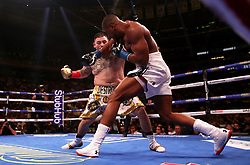 Anthony Joshua (right) in action against Andy Ruiz Jr in the WBA, IBF, WBO and IBO Heavyweight World Championships title fight at Madison Square Garden, New York.