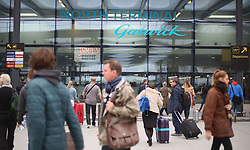 File photo dated 25/10/16 of passengers arriving at the North Terminal at Gatwick Airport, which is one of four British airports among the worst 10 in the world, according to new rankings.
