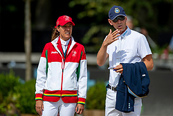 DINIZ Luciana (POR), FREDRICSON Peder (SWE)<br /> Rotterdam - Europameisterschaft Dressur, Springen und Para-Dressur 2019<br /> Parcoursbesichtigung<br /> Longines FEI Jumping European Championship - 1st part - speed competition against the clock<br /> 1. Runde Zeitspringen<br /> 21. August 2019<br /> © www.sportfotos-lafrentz.de/Stefan Lafrentz