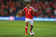 Neil Taylor of Wales in action. Wales v Moldova , FIFA World Cup qualifier at the Cardiff city Stadium in Cardiff on Monday 5th Sept 2016. pic by Andrew Orchard, Andrew Orchard sports photography