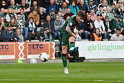 Matthew Kennedy (16) of Plymouth Argyle shoots at goal during the EFL Sky Bet League 2 match between Plymouth Argyle and Newport County at Home Park, Plymouth, England on 17 April 2017. Photo by Graham Hunt.
