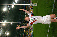 Photo: Richard Lane.<br />Australia v England. Rugby World Cup Final, at the Telstra Stadium, Sydney. RWC 2003. 22/11/2003. <br />Richard Hill celebrates victory in the Rugby World Cup.