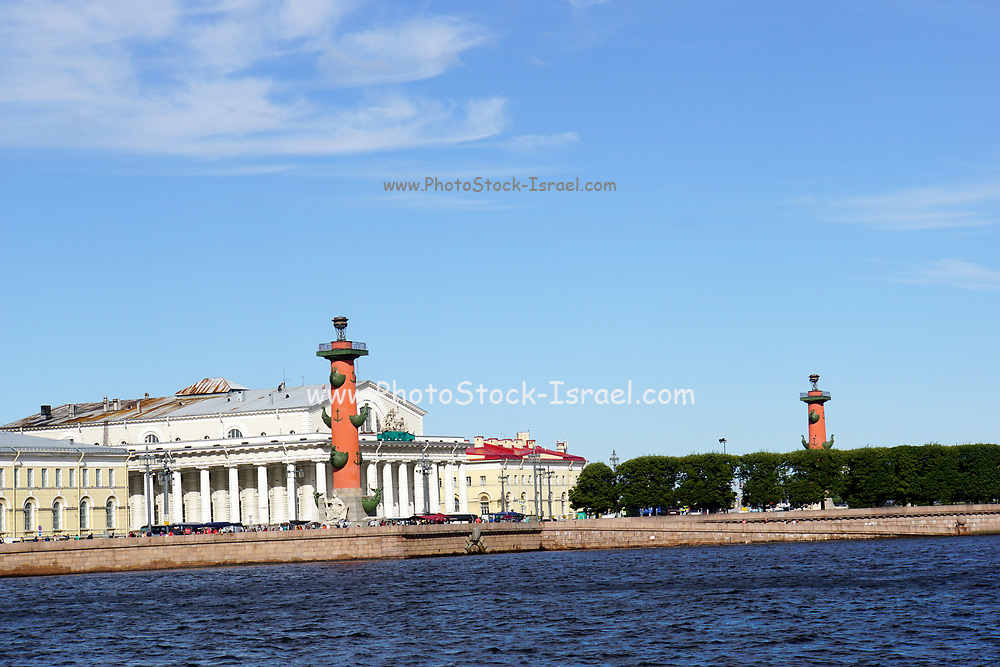 Saint Petersburg, Russia, The Rostral column and stock exchange
