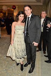 KATIE MELUA and husband JAMES TOSELAND at the Gift of Life Old Russian New Year's Eve charity gala held at The Savoy Hotel, London on 13th January 2016.