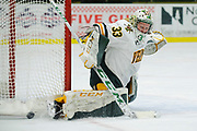 Vermont goalie Melissa Black (33) makes a save during the women's hockey game between the Syracuse Orange and the Vermont Catamounts at Gutterson Field House on Friday night November 23, 2018 in Burlington. (BRIAN JENKINS/for the FRESS PRESS)