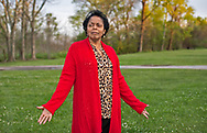 Sharon Lavinge on her land in Welcome, Louisiana.