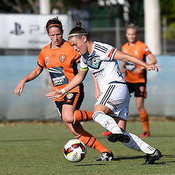 BRISBANE, AUSTRALIA - JANUARY 1: Christine Nairn of the Victory controls the ball during the round 10 Westfield W-League match between the Brisbane Roar and Melbourne Victory at AJ Kelly Park on January 1, 2017 in Brisbane, Australia. (Photo by Patrick Kearney/Brisbane Roar)