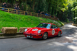 Boness Revival hillclimb motorsport event in Boness, Scotland, UK. The 2019 Bo'ness Revival Classic and Hillclimb, Scotland's first purpose-built motorsport venue, it marked 60 years since double Formula 1 World Champion Jim Clark competed here.  It took place Saturday 31 August and Sunday 1 September 2019. 87. Colin Robertson. Porsche 911 Carrera