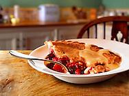 British Food - Fruit pie & Custard