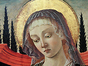 Detail from The Madonna and Child 1480. Part of the collection of Upton House.