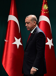 April 18, 2018 - Ankara, Türkiye - Recep Tayyip Erdogan has announced Turkish presidential and parliamentary elections on 24 June, citing an ''urgent'' need to switch to an executive presidential system to cure the ''diseases'' of old. (Credit Image: © Depo Photos via ZUMA Wire)