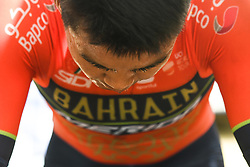 May 20, 2018 - Sakai, Osaka, Japan - Chinese rider Meiyin Wang from team Bahrain - Merida, during a warm up ahead of the opening stage, 2.6km Individual Time Trial in Daisen Park, Sakai..On Sunday, May 20, 2018, in Sakai,  Osaka Prefecture, Japan. (Credit Image: © Artur Widak/NurPhoto via ZUMA Press)