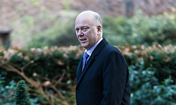 London, December 19 2017. Transport Secretary Chris Grayling arrives at 10 Downing Street for the last cabinet meeting before the Christmas break. © Paul Davey