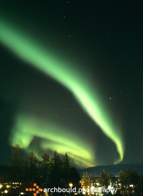 Northern lights over Whitehorse, Yukon