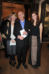 ROGER & HILARY McGOUGH with their daughter IZZY McGOUGH at a private view of the Royal Academy's Modern British Sculpture exhibition held at Burlington House, Piccadilly, London on 18th January 2011.