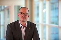 DEU, Deutschland, Germany, Berlin, 28.04.2012:<br />Portrait von Jan Stöß (SPD), Kreisvorsitzender der SPD Friedrichshain-Kreuzberg, nach seiner Vorstellung bei der Delegiertenversammlung des SPD-Kreisverbandes Steglitz-Zehlendorf in der FU Berlin in Dahlem.