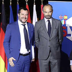 October 8, 2018 - Lyon, FRANCE - Matteo Salvini  - Edouard Philippe premier ministre (Credit Image: © Panoramic via ZUMA Press)