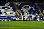 empty stands as Birmingham city beat the holders Swansea city 3-1.  . Capital one cup 3rd round match, Birmingham city v Swansea city at St.Andrews in Birmingham on Wed 25th Sept 2013. pic by Andrew Orchard, Andrew Orchard sports photography.
