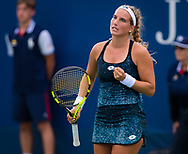 Deborah Chiesa of Italy in action during the first qualification round at the 2018 US Open Grand Slam tennis tournament, New York, USA, August 22th 2018, Photo Rob Prange / SpainProSportsImages / DPPI / ProSportsImages / DPPI