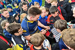 Josh Adams of Worcester Warriors is swamped by fans after the final whistle - Mandatory by-line: Craig Thomas/JMP - 13/04/2019 - RUGBY - Sixways Stadium - Worcester, England - Worcester Warriors v Sale Sharks - Gallagher Premiership Rugby