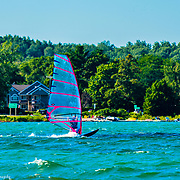 Windsurfing On Little Traverse Bay In Lake Michigan