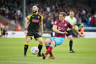 Scunthorpe United's Connor Townsend(3) with an early shot in the second half during the EFL Sky Bet League 1 match between Scunthorpe United and Rotherham United at Glanford Park, Scunthorpe, England on 12 May 2018. Picture by Nigel Cole.