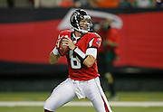 ATLANTA - AUGUST 29:  Quarterback Chris Redman #8 of the Atlanta Falcons drops back to pass during the game against the San Diego Chargers at the Georgia Dome on August 29, 2009 in Atlanta, Georgia. The Falcons beat the Chargers 27-24.  (Photo by Mike Zarrilli/Getty Images)