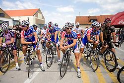Adria Mobil team before start of the 4th stage of Tour de Slovenie 2009 from Sentjernej to Novo mesto, 153 km, on June 21 2009, Slovenia. (Photo by Vid Ponikvar / Sportida)
