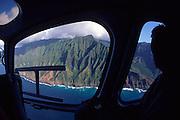 Helicopter, Napali Coast, Kauai, Hawaii<br />
