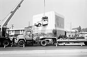 0609-89-42 installing a car crashing through a Billboard using a crane, Burbank, California
