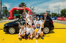 "Fan tennis event for kids named ""Play tennis"" by Tenis Slovenija, on May 27, 2018 in BTC - Millenium centre Ljubljana, Slovenia. Photo by Vid Ponikvar / Sportida"