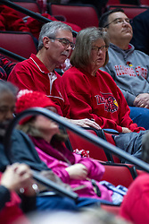 NORMAL, IL - February 07: Ron Krueger and wife during a college women's basketball game between the ISU Redbirds and the Braves of Bradley University February 07 2020 at Redbird Arena in Normal, IL. (Photo by Alan Look)