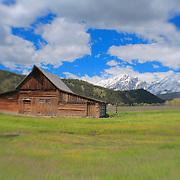 Mormon Row Barn Wide- Grand Tetons, WY - Lensbaby