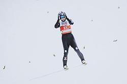 04.03.2021, Oberstdorf, GER, FIS Weltmeisterschaften Ski Nordisch, Oberstdorf 2021, Herren, Nordische Kombination, Einzelbewerb, Skisprung HS 137, im Bild Vinzenz Geiger (GER) // Vinzenz Geiger of Germany during a trainings session for the ski Jumping HS 137 Competition of men Nordic combined Single of FIS Nordic Ski World Championships 2021 in Oberstdorf, Germany on 2021/03/04. EXPA Pictures © 2021, PhotoCredit: EXPA/ JFK